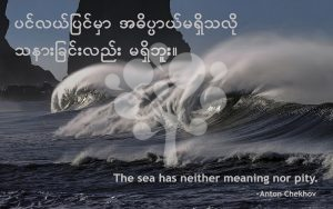 The sea has neither meaning nor pity.