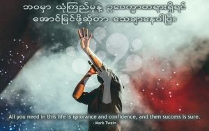 All you need in this life is ignorance and confidence, and then success is sure.